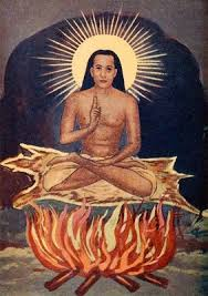 This Painting of The Immortal Master was painted in the early 1950's when Babaji was manifesting to Yogi Ramaiah and V.T.N.