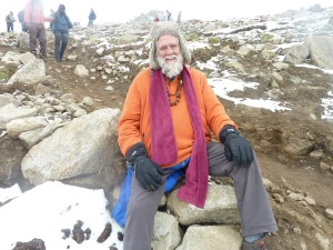 Mt. Kailash: Exhausted but totally blissful descending from the highest pass on the second day of Treking. Jai Shiva !