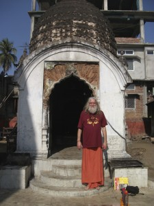Swami Ayyappa outside Tara temple at Kamakya