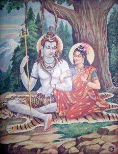 Shiva initiates Parvati into Kundalini Yoga at Amarnath