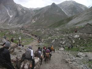 Nearing Sheshnag on Amarnath trail