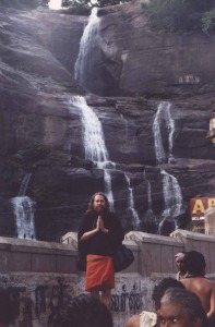 Ayyappa at Coutrallam Falls, where Mahasiddha Babaji was initiated.