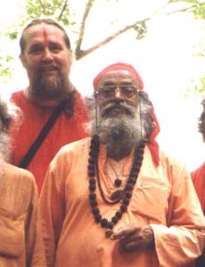 Swami Rudranath w Swami Ayyappa, direct disciples of Mahasiddha Babaji