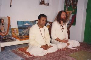 Sadhana with Great Grandson of Lahiri Mahasaya, Shebindu Lahiri